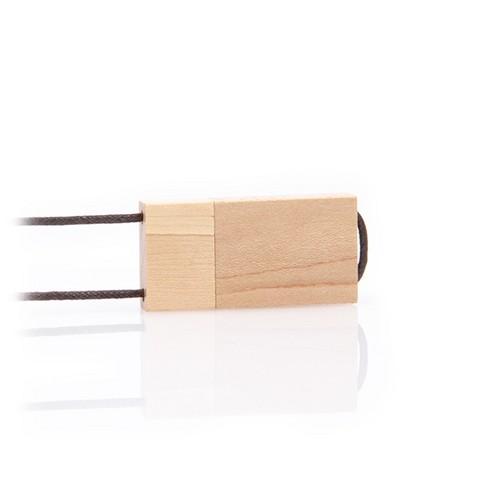 Houten USB stick Environment met nekkoord,  walnut