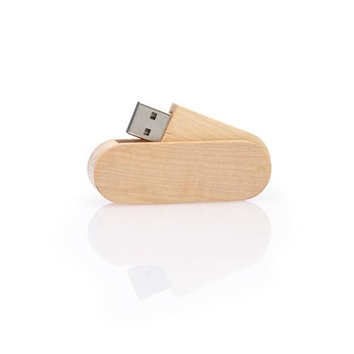 Houten USB stick Twister,  maple